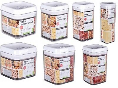 Airtight Stackable Square Food Storage Jars Canisters Containers
