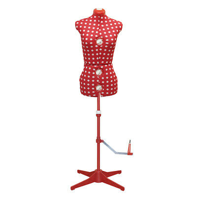 Tailors Model Dress Form Dressmakers Dummy Red   Small   Birch 023807