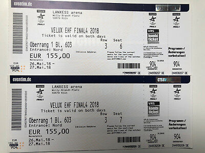 A vendre ! EHF Final 4 TOP-Tickets Köln  - günstiger als Originalpreise !