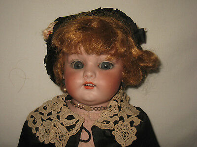 "Antique 22"" Simon & Halbig Bisque Shoulder Head Doll   MB12"