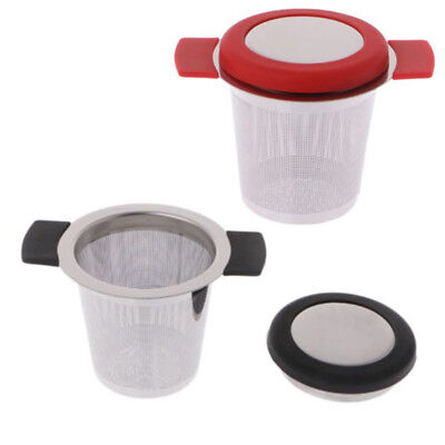 Practical Stainless Steel Mesh Tea Infuser With Lid Strainer Loose Leaf Filter