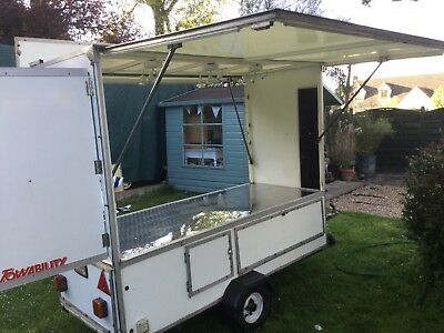 Towability Market Trailer All Sheeted Brushed Steel Top Very Flexible Uses