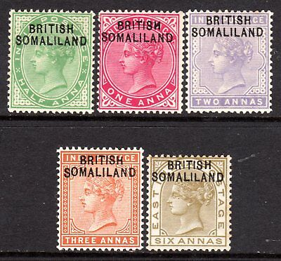 Somaliland Protectorate QV 1903 Selection to 6a LM/Mint