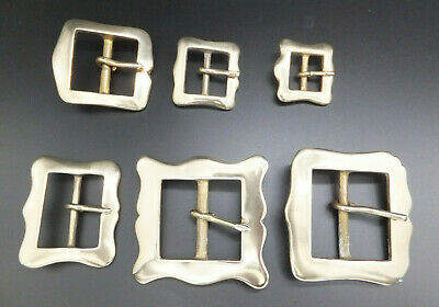 BS-1 Solid Brass RE ENACTMENT Belt Buckle Leather craft  4 sizes