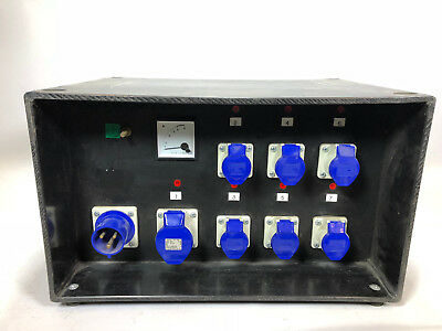 SES 32A P/PRO 32amp single phase to 1x32amp + 6x16amp with audible alarm bypass