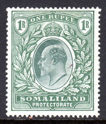 Somaliland Protectorate KEVII  1904  1r Green SG41 LM/Mint