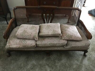 Victorian oak bergere 3 piece suite in very good condition