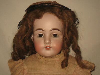 "Antique 27"" J. D. Kestner Bisque Shoulder Head Doll #154    MB15"