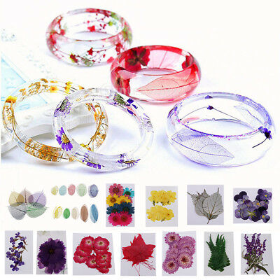 10 Pcs Pressed Dried Flowers Mixed Herbarium for Necklace Making Art Crafts