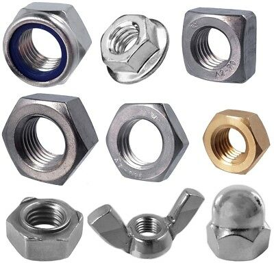 A2/A4 STEEL NUTS M2.5-M30 Small-Large Stainless/Marine Grade Metric Fasteners