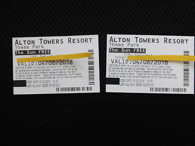 Alton Towers, Two Tickets, Monday 4th June 2018