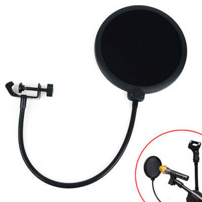 Recording Studio Microphone Mic Wind Screen Filter Mask Shield Double Layer