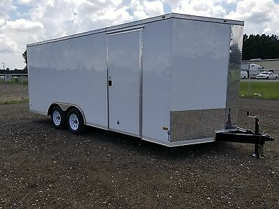 8.5x18 8.5 x 18 8x Enclosed Trailer Cargo Car Hauler V 16 20 Motorcycle Utility.
