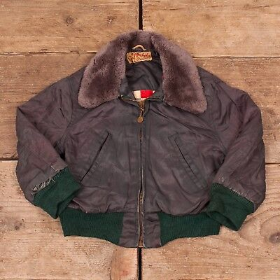 Boys Vintage Billy the Kid 1950s Green Lined Bomber Jacket 3 - 4 Years XR 8672