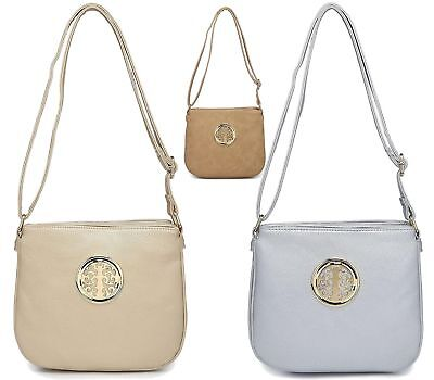 Womens Ladies Holiday Everyday Cross Over Bag Faux Leather Fashion Shoulder Bag