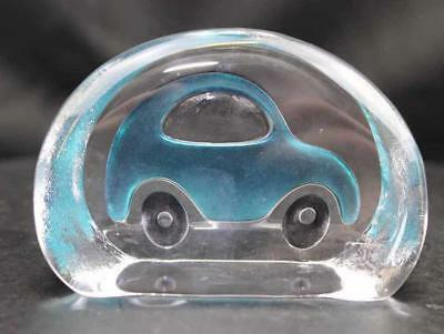 Hand Etched Crystal Turquoise Car- Mats Jonasson - New From Gallery  (16805-049)