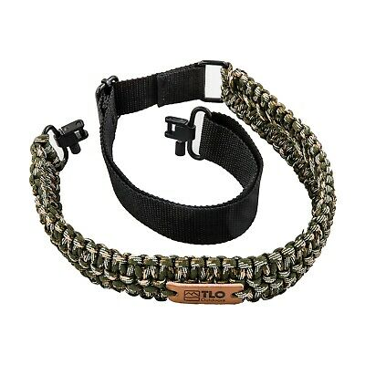 TLO Outdoors Adjustable 2-Point Paracord Gun Sling for Rifle, Shotgun, Crossbow