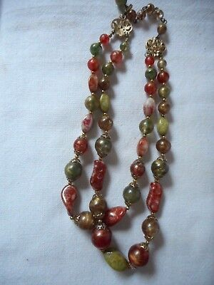 Vintage TRIFARI murano glass and plastic necklace