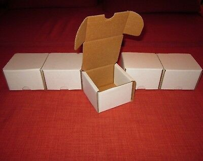 Lot Of 5 Bcw 200 Count Cardboard Storage Box / Baseball Trading Cards / 1-Bx-200