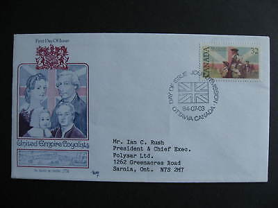 Canada Marg cachet FDC first day cover, United Empire Loyalists Sc 1028