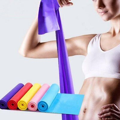 Elastic Yoga Pilates Rubber Stretch Resistance Exercise Fitness Band Belt