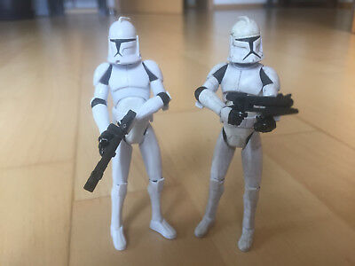 Star Wars The Clone Wars Hasbro 2x Clone Trooper Battlepack + Zubehör