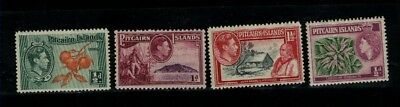 Pitcairn Islands 4 different Mint stamps