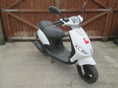 2013 63 Piaggio Zip 50 2T White 49Cc 5333 Miles 8533 Km 3 Owners Moped Scooter