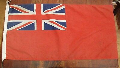 WW2 Royal Navy Red Ensign Ships / Motor Launch Flag - Dated 1940 - Large Example