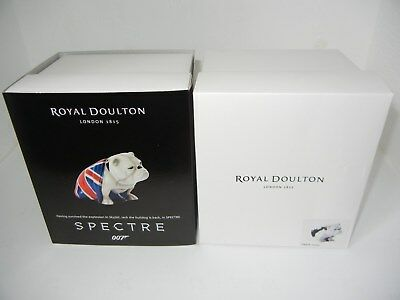 Nib Royal Doulton British Bulldogs - Jack & Patch - Spectre - Union Jack Flag