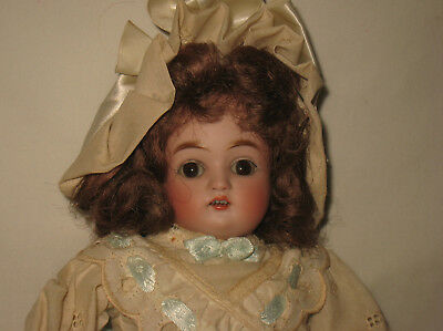 "Antique 17"" German Bisque Turned Shoulder Head Doll   MB17"