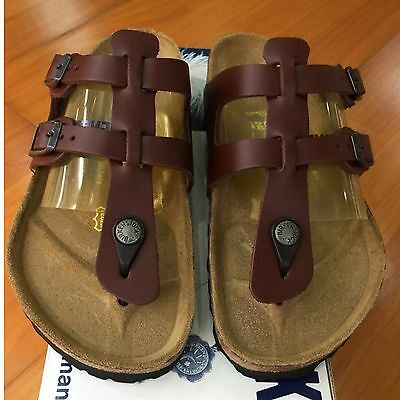 dd65c4cb316a Birkenstock Sparta 058171 size 36 L5-5.5 R Brandy Red Leather Thong Sandals