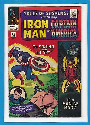 Tales Of Suspense #68_August 1965_Vf Minus_Iron Man_Captain America_Silver Age!