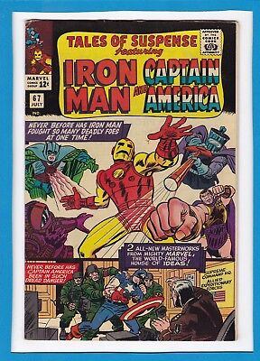 Tales Of Suspense #67_July 1965_F/vf_Iron Man_Captain America_Silver Age Marvel!
