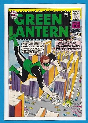 """Green Lantern #5_April 1961_Very Fine_""""the Power Ring That Vanished""""_Silver Age!"""