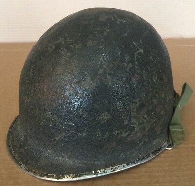 WWII WW2 US Army M1 Helmet Shell - Front Seam Swivel Bale Stamped 38?A