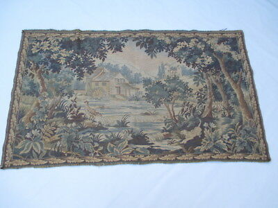 Old French / Belgium Tapestry Wall Hanging - 146 x 84 cm ( 4560 )