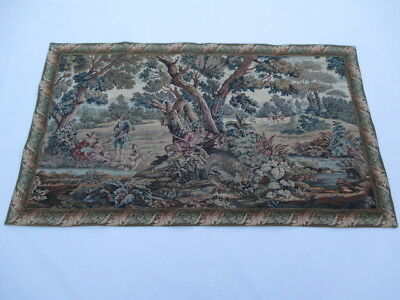 Old French / Belgium Tapestry Wall Hanging - 75 x 128 cm ( 4277 )