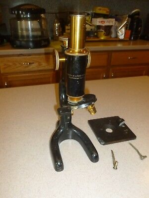 Antique Bausch & Lomb Microscope B & L Optical as is