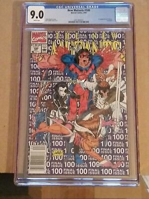 New Mutants 100 CGC 9.0 1st APPEARANCE OF X Force MOVIE COMING!!
