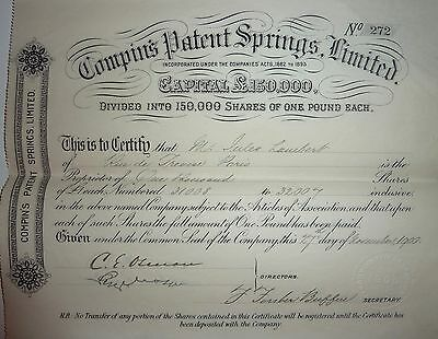 Compin's Patent Springs Limited - 1900