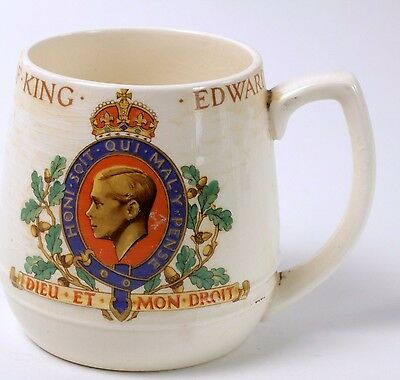 Edward VII 1937 Coronation Mug Mintons British Pottery Commemorative Cup