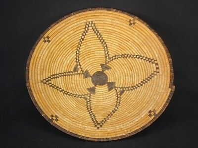 A Well-woven Apache tray basket, American Indian Basket, circa: 1915