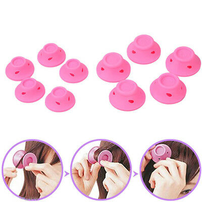 10Pcs/Set Silicone Hair Curler Hair Care DIY Roll Hair Type Roller Curling tools