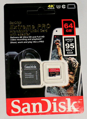 SanDisk Extreme PRO SDXC Class 10 64GB MicroSD Card