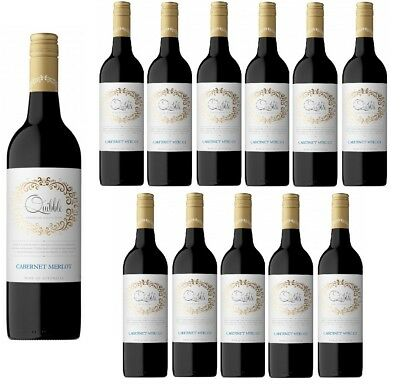 Quibble Cabernet Merlot Red Wine 2016 (12x750ml) Free Shipping RRP $210