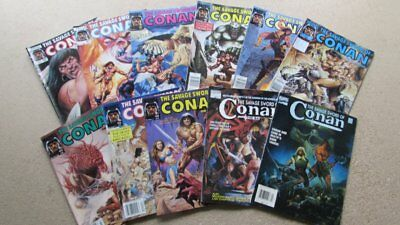 Savage Sword of Conan the Barbarian Lot of 11, Numbers 169-220