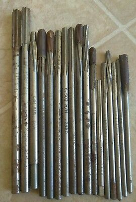 Lot of 17 L&I Reamers .386-.164 all different diameters aircraft machinist tools