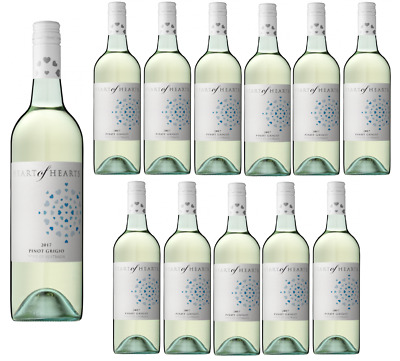 Heart of Hearts Pinot Grigio White Wine 2017 (12x750ml) RRP$199