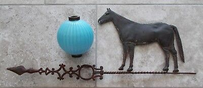Standing Horse Arrow & Blue Pleated Ball